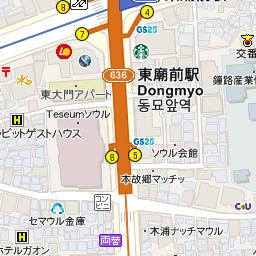 Starbucks Coffee 新堂駅サゴリ店の地図 東大門 ソウル のグルメ レストラン 韓国旅行 コネスト