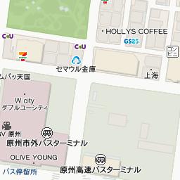 原州市外バスターミナル の地図...