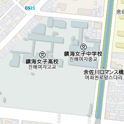 鎮海駅の地図   韓国地図コネス...