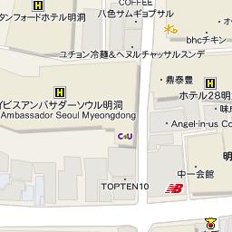 ラインホテル明洞の地図 行き方 韓国ホテル予約 コネスト