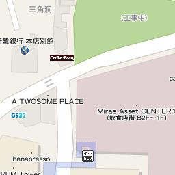 ロッテホテル明洞 本館2fツアーラウンジ へのアクセス地図 韓国地図コネスト